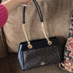 NEW Coach Brooke Chain Carryall Signature Canvas